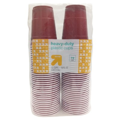 Disposable Red Plastic Cups - 18oz - 72ct - Up&Up™