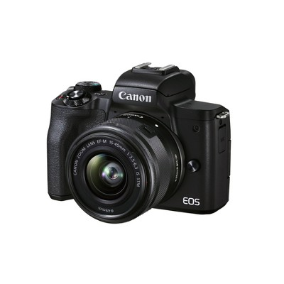 Canon EOS M50 Mark II Mirrorless Camera with EF-M 15-45mm f/3.5-6.3 IS STM Zoom Lens - Black