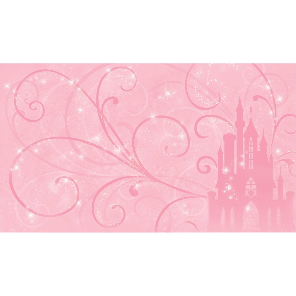6 39 X10 5 39 Princess Scroll Castle Chair Rail Prepasted Mural Ultra Strippable Roommates
