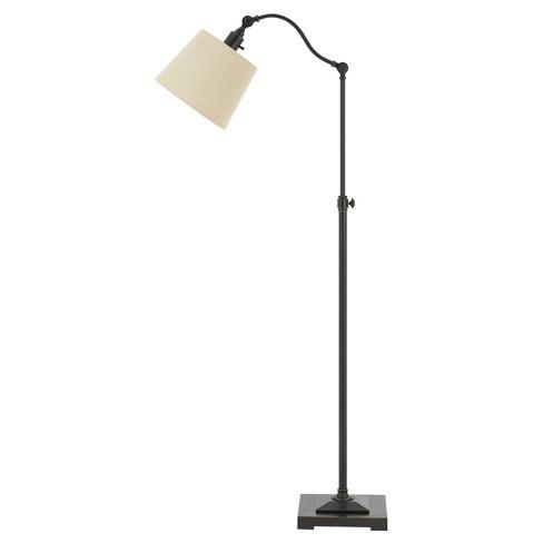 60w Pampano Metal Downbridge Adjustable Height Floor Lamp Brown (Includes Energy Efficient Light Bulb) - Cal Lighting - image 1 of 1