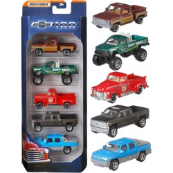 """100 Years Anniversary of Chevrolet Trucks"" Set of 5 Pickup Trucks Diecast Model Cars by Matchbox"