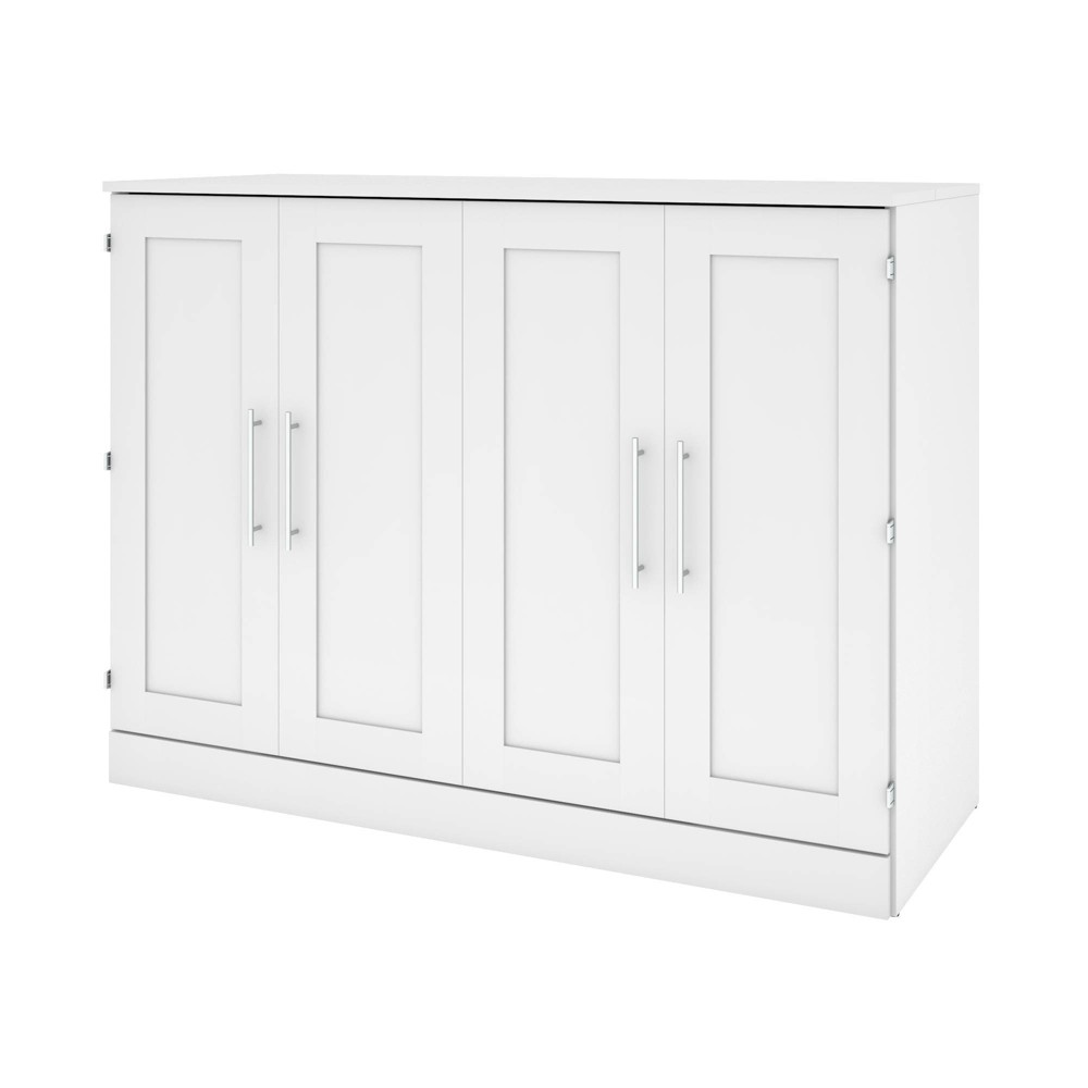 Image of Full Cabinet Bed with Mattress White - Bestar
