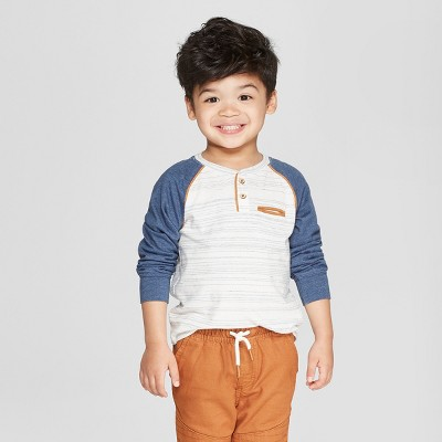 Toddler Boys' Genuine Kids from OshKosh® Long Sleeve Henley T-Shirt - Heather Gray 4T