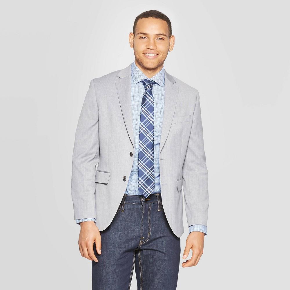 Men's Standard Fit Suit Jacket - Goodfellow & Co Jet Gray 36S