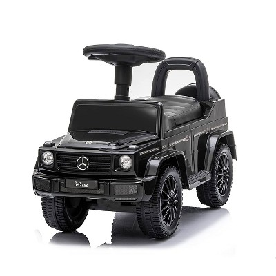 Best Ride On Cars Realistic Children's Mercedes G-Wagon Foot to Floor Ride Along Car & Push Behind Walker with Hidden Storage and Support Bar, Black