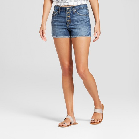 Image result for Women's High-Rise Jean Shorts - Universal Thread™ Medium Wash