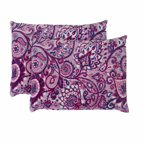 Ivory Ella Carina Purple Ultra Soft Plush Standard Sham Pair - image 1 of 3