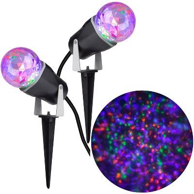 Gemmy Lightshow Projection Kaleidoscope Combo Pack (Purple/Orange/Green) , Multicolored