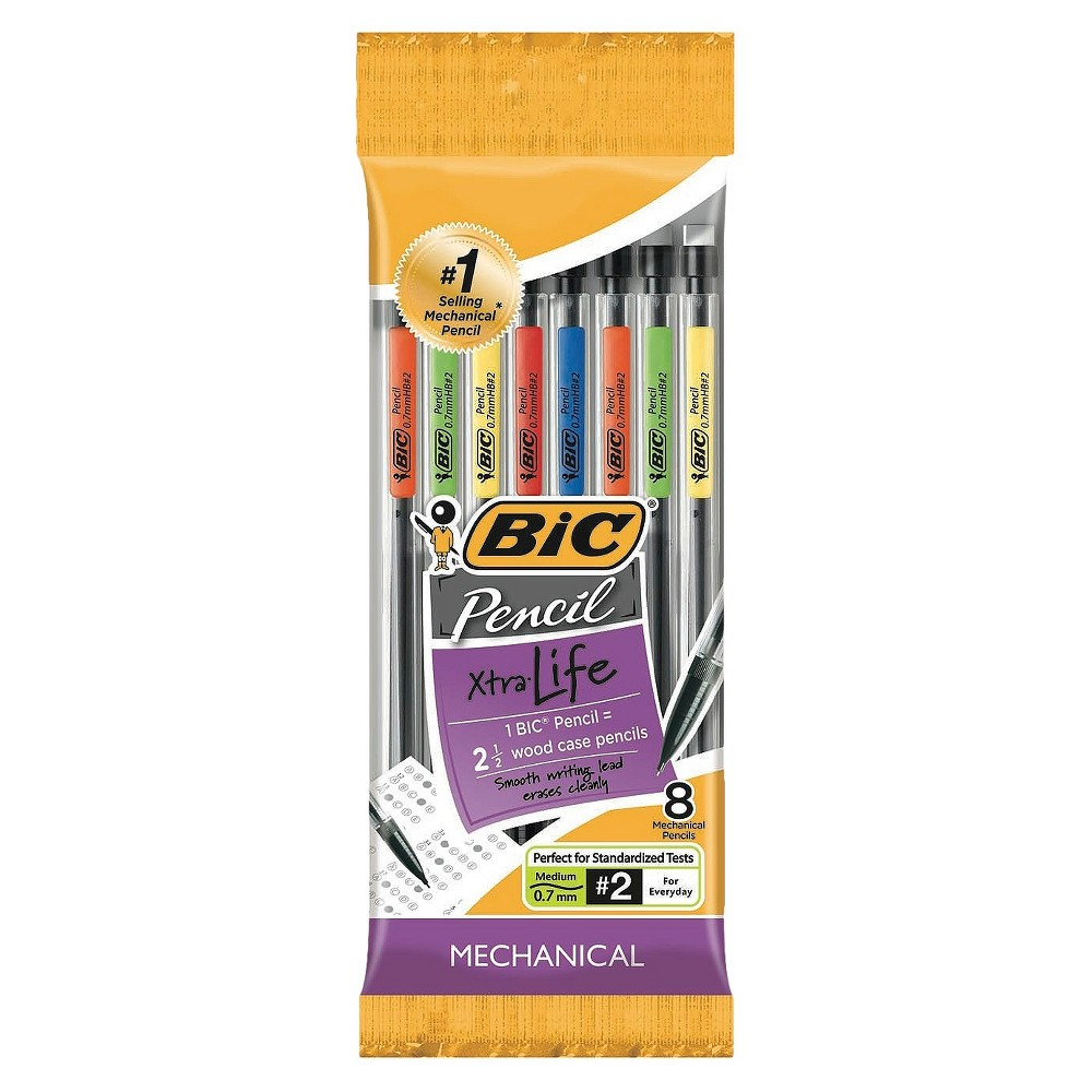 8ct #2 Mechanical Pencil .7mm Lead - Bic