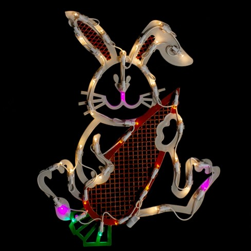 """Northlight 17"""" White LED Lighted Easter Bunny Rabbit Spring Window Silhouette - image 1 of 4"""