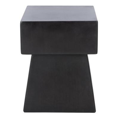 Zen Mushroom Modern Concrete Accent Table - Black - Safavieh