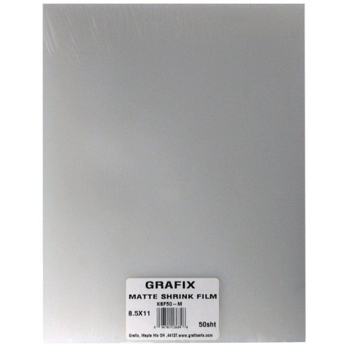 Grafix Shrink Film, 8-1/2 x 11 Inches, Matte, pk of 50 - image 1 of 2