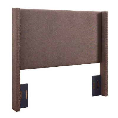 King Casey Wingback Upholstered Headboard Taupe Brown - Crosley