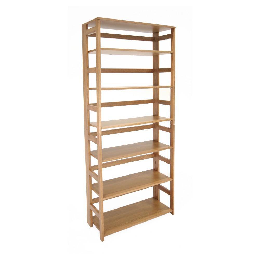 Flip Flop 67 High Folding Bookcase Medium Oak (Brown) - Niche