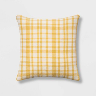 Square Woven Plaid PillowYellow/Cream - Threshold™