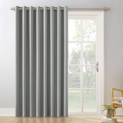 """84""""x100"""" Kenneth Extra Wide Blackout Grommet Top Door Curtain Panel - Sun Zero"""