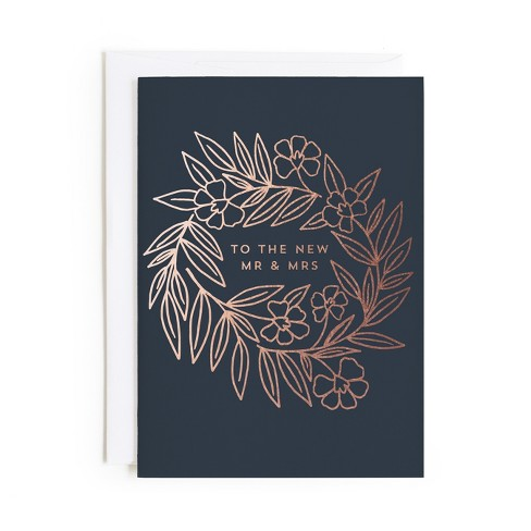 Minted Mr Mrs Floral Card - image 1 of 1