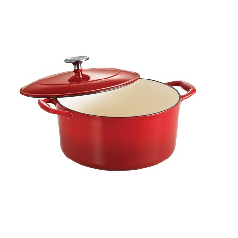 Tramontina 5.5qt Cast Iron Dutch Oven Red - image 1 of 4