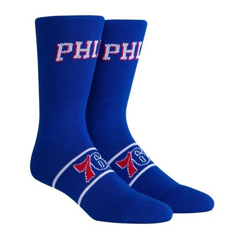NBA Philadelphia 76ers Uniform Preview Crew Socks - L - image 1 of 3