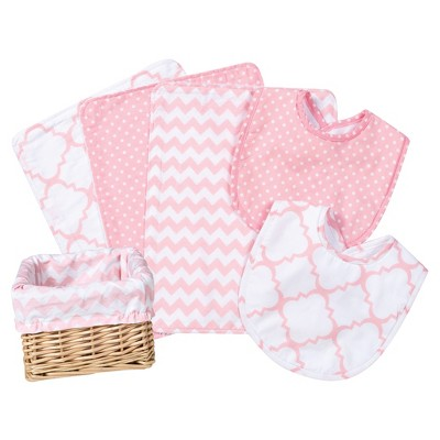 Trend Lab Feeding Basket Gift Set - Pink Sky 7pc