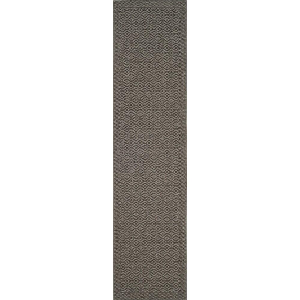 2'X8' Geometric Loomed Runner Ash/Light Gray (Grey/Light Gray) - Safavieh