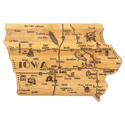 Totally Bamboo Destination Iowa Serving and Cutting Board