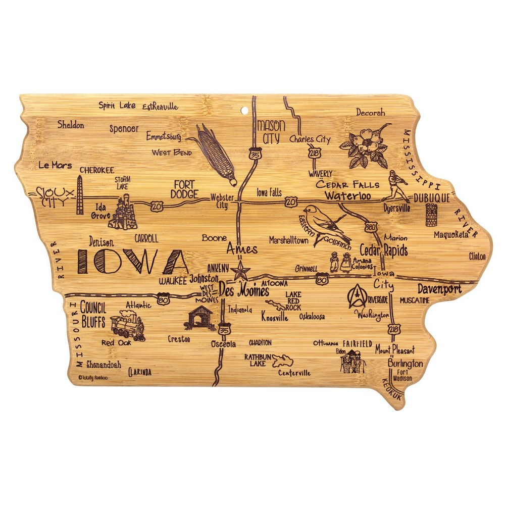 Compare Totally Bamboo Destination Iowa Serving and Cutting Board
