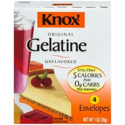 Knox Original Unflavored Gelatin - 4ct/4oz