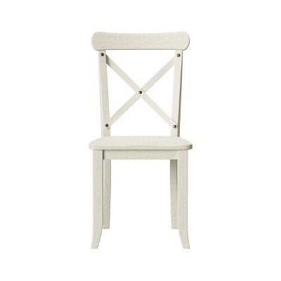 Litchfield Set of 2 X-Back Dining Chair Antique White - Threshold™