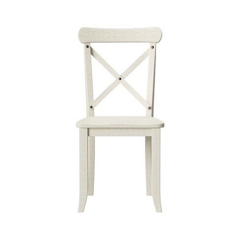 Stupendous Litchfield Set Of 2 X Back Dining Chair Antique White Threshold Ibusinesslaw Wood Chair Design Ideas Ibusinesslaworg
