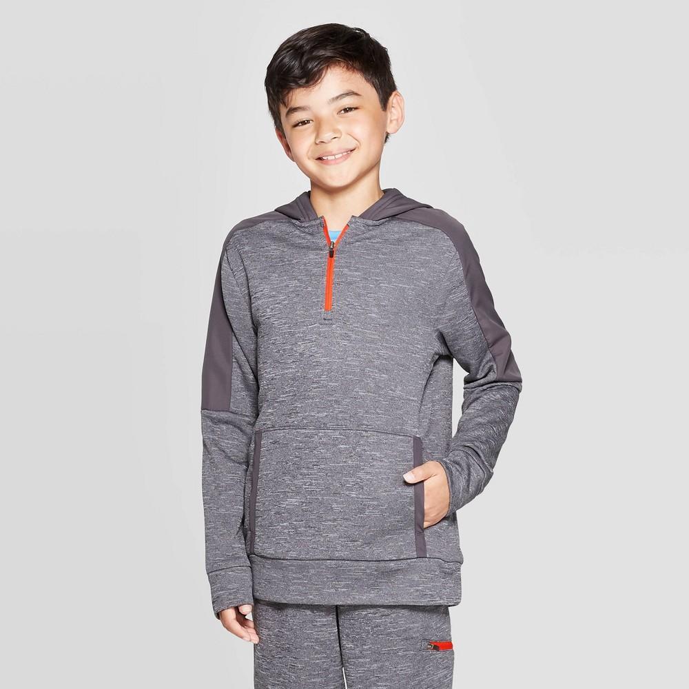 Image of Boys' Fleece 1/4 Zip Hoodie - C9 Champion Black Heather S, Boy's, Size: Small, Black Grey