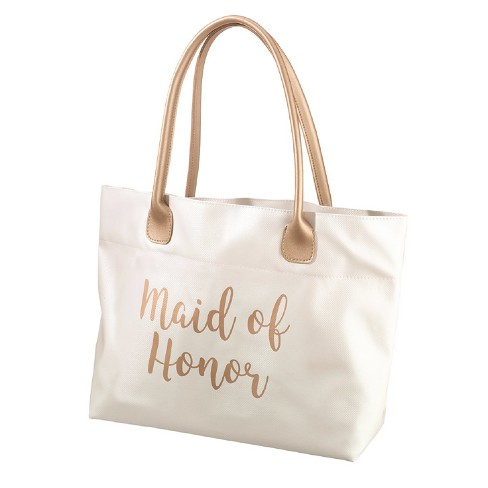 Lillian Rose Gold Maid Of Honor Tote Bag - image 1 of 2