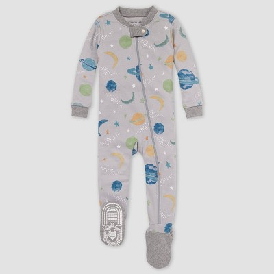 Burt's Bees Baby® Baby Boys' Space Snug Fit Footed Pajama - Heather Gray 6-9M
