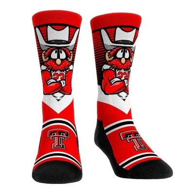 NCAA Texas Tech Red Raiders Adult Mascot Showdown Crew Socks - L/XL