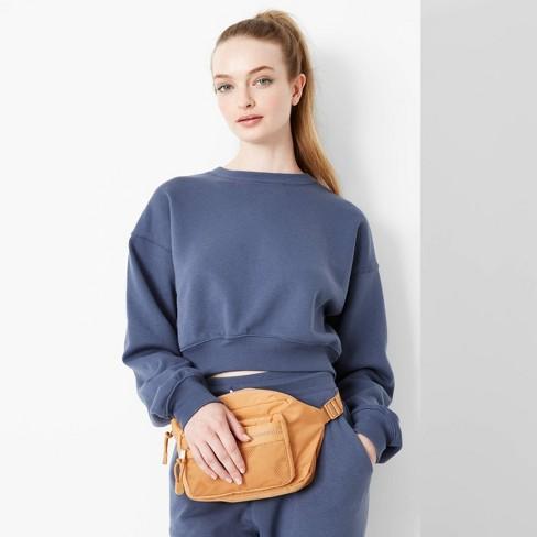 Women's Cropped Sweatshirt - Wild Fable™ - image 1 of 3