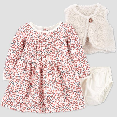 Baby Girls' Floral Dress - Just One You® made by carter's Pink