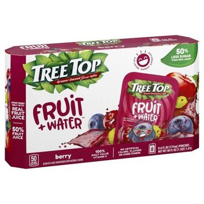 Tree Top Fruit + Water Berry - 8pk/6 fl oz Pouches