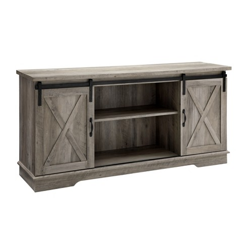 "58"" Sliding Barn Door Console - Saracina Home - image 1 of 4"