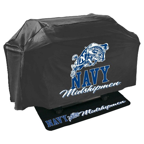 NCAA Navy Midshipmen Mr. Bar-B-Q Grill Cover and Grill Mat Set - image 1 of 2