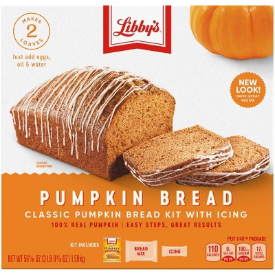 Libby's Pumpkin Bread Kit with Icing - 56.1oz