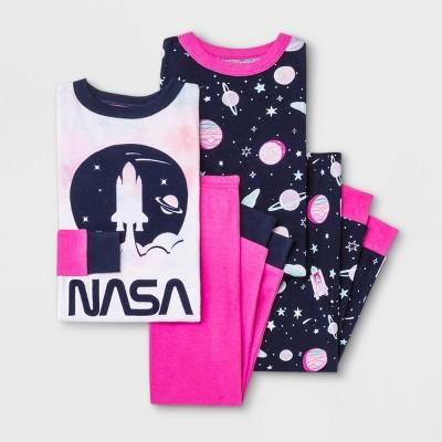 Toddler Girls' 4pc NASA Pajama Set - Pink/Navy