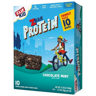 CLIF Kid ZBAR Protein Chocolate Mint Snack Bars