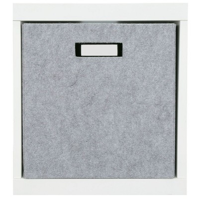13  Fabric Cube Storage Bin Light Gray Felt - Threshold™
