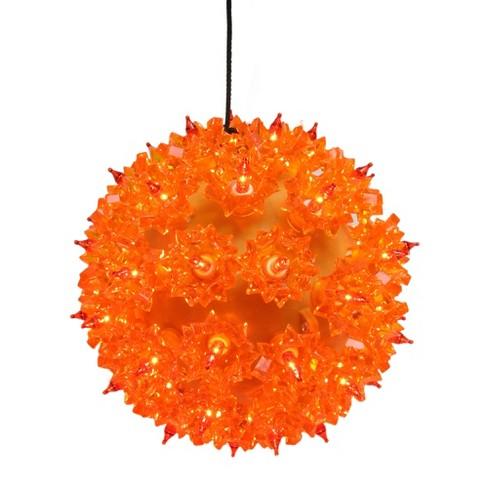 """J. Hofert Co 5"""" Prelit Outdoor Hanging LED Starlight Sphere Ball Orb - Amber Orange Lights - image 1 of 3"""