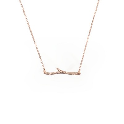 Sanctuary Project Dainty Branch Necklace Rose Gold