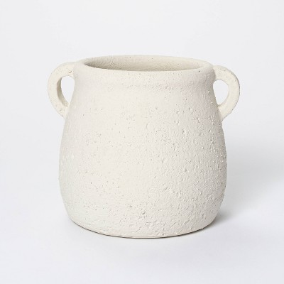 """7"""" x 7.5"""" Rustic Weathered Planter White - Threshold™ designed with Studio McGee"""