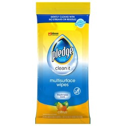 Pledge Multi Surface Wipes - 25ct