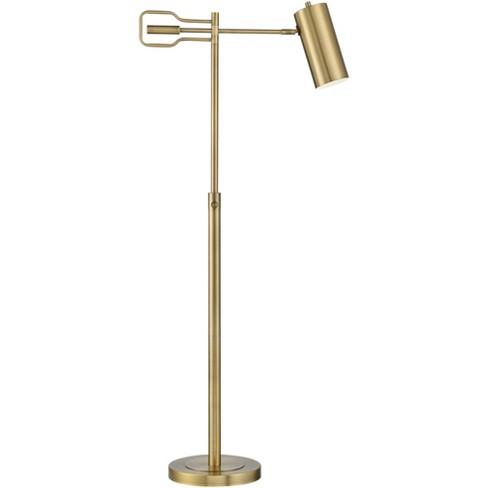 360 Lighting Modern Small Task Floor, Vintage Brass Task Floor Lamp