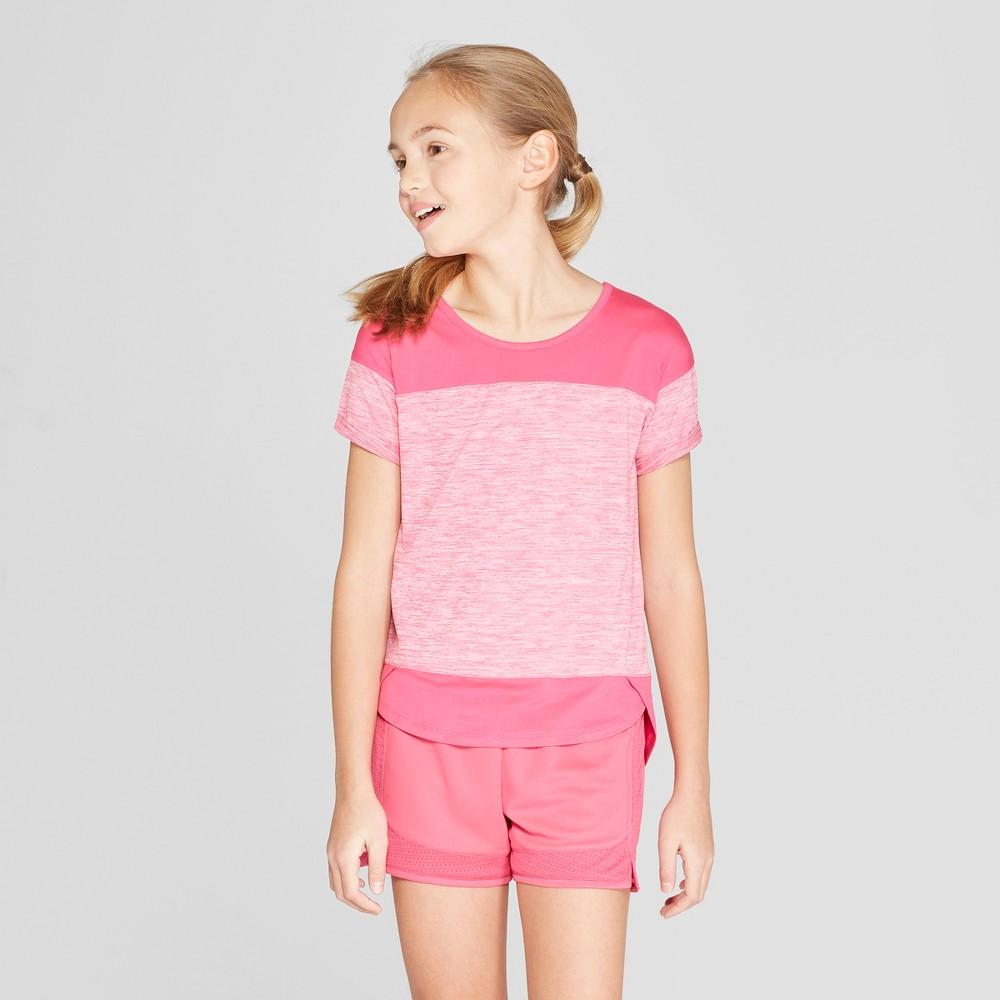 Girls' Color Block Super Soft Tech T-Shirt - C9 Champion Pink M