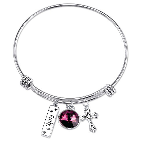 bd03deb1d1f20 Women's Faith Expandable Bangle in Stainless Steel